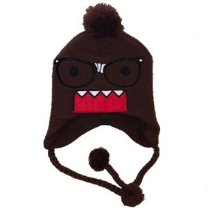 Other - Kids Youth DOMO Glasses Brown Beanie Knit Hat
